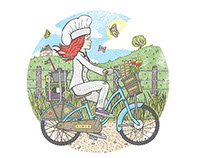 Chef Jacqui Brown illustration.