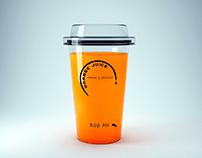 Natural juice company logo