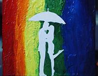 ☔️🌈💏 acrylic painting on canvas 😍😊