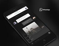 Dark WhatsApp UI Concept