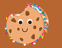 Ice Cream Cookie Sandwich Illustration