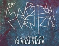 Cartel Maratón de los cuentos de Guadalajara 2015