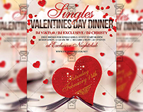 Singles Valentines Day Dinner - Seasonal A5 Flyer