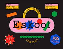 Eskool : Free Display Typeface