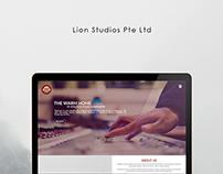 Web Design for Lion Studios, Singapore