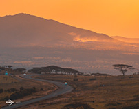 Sunset over Ngong hills.