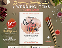 Dreamy Watercolor Wedding Suite I
