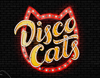 Disco Cats — logo for a local disco crew