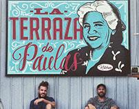 Restaurant identity mural @La Terraza de Paulas