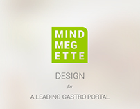 Design for MINDMEGETTE gastro portal