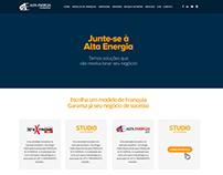 Layout para o site da rede de franquias Alta Energia.