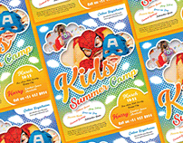 Free Kids Summer Camp Flyer Design Template