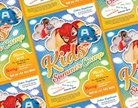 Free Kids Summer Camp Flyer Design Template