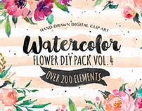 Watercolor DIY pack Vol.4