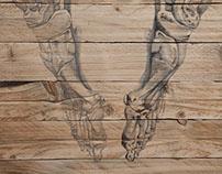 Grafito sobre madera