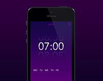 Wakeup Clock UI