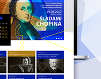 Website and logo for Toruń Symphony Orchestra