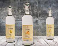Csatos Palinka label design
