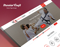 Martial Craft website design