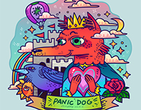 Panic dog--sketch book
