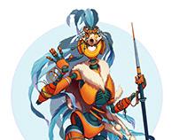Robot hunter character