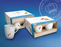 Zestaw 4 kubków - Rybki / 4 cups set - Fish