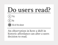 Do users read?