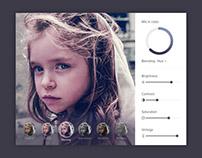 Free Photo Editing UI Design