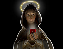 Virgin Mary texting on her Iphone