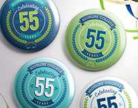 Highline College 55th Year Anniversary Logo