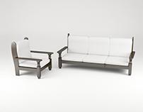 The Wooden Sofa - 3D Model