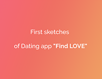 """FindLOVE"" Dating App Design Project"