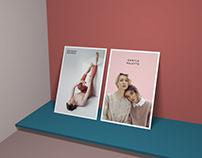 Modern Branding Vertical Standing Posters Mockup Free