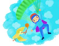 Ilustraciones para contenido sobre becas