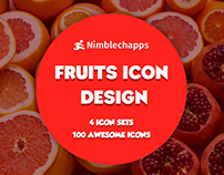 Fruits Icon | Fruits Colored Icons | Icon Design