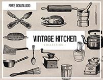 Free - Kitchenware Clipart Graphics