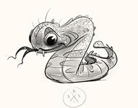 Snake character design