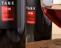 Tank 26 wine label design by the Labelmaker