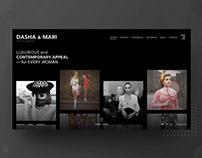DASHA & MARI K. Photographer Website Interface