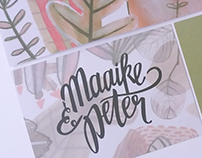Wedding invitation Maaike & Peter