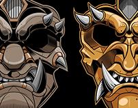 Samurai mask design