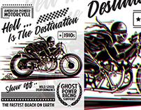 American Pioneer Motorcycle T-Shirt Template