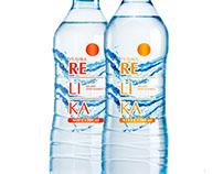 Концепция этикетки питьевой воды «Re Li Ka»