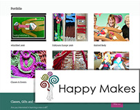 Happy Makes - Website and Logo Redesign