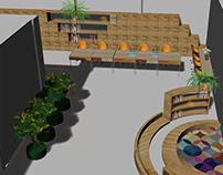 Projekt wnętrza, strefa studenta w School of Form