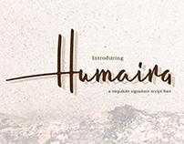 FREE FONT - Humaira Free Script Font