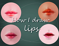 Just lips drawing practice