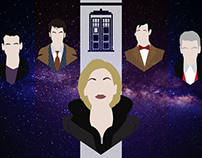 Doctor Who - minimalistic portraits