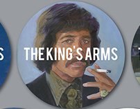 The King's Arms Beermat Business Cards
