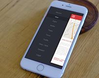 Sidebar Menu Navigation App Design
